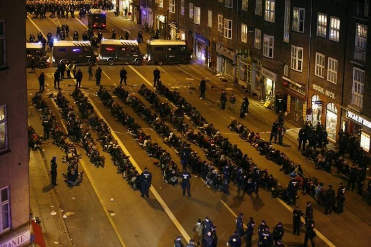 Festgenommende in Kopenhagen